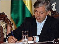 �lvaro Garc�a Linera, vicepresidente de Bolivia