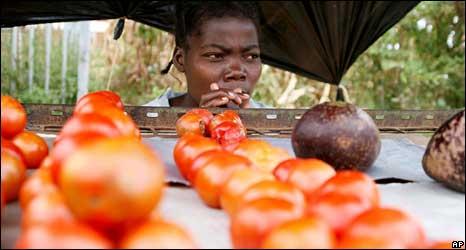 A tomato vendor in Harare in 2008