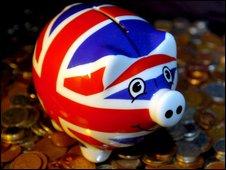 A Union Jack piggy bank