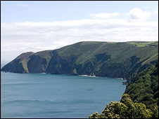 North Devon coast near Lynton