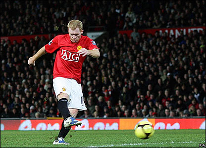 Paul Scholes's powerful shot