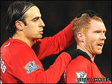 Dimitar Berbatov and Paul Scholes
