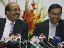 Dr K S Reddy (R) and Dr Ramakant Panda at AIIMS, 24 Jan