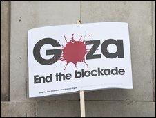 A Gaza sign
