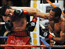Mosley dominated the contest with 108 power punches