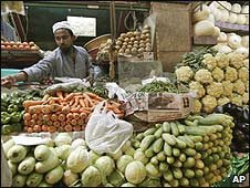 A market stall in Bangalore, India (file image)