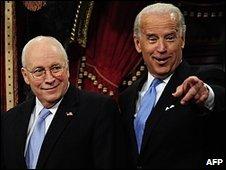 Joe Biden (R) and Dick Cheney in Washington, 6 Jan