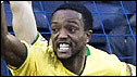 Richard Offiong celebrates his goal for Hamilton