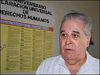 El presidente de la Comisión de Derechos Humanos, Elizardo Sánchez / Fotos: Raquel Pérez