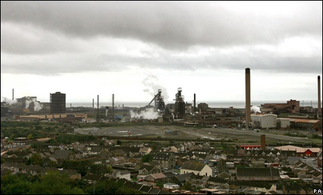 The Corus plant at Port Talbot