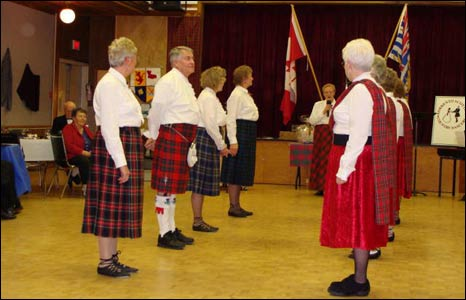 Scottish country dancers host a Burns Night for the second year in Sorrento, British Columbia, Canada.