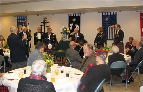 The Haggis being addressed at a Burns Supper in Satesboro, Georgia, USA.