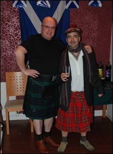 Pete Degnan said he had 14 English friends over for a braw Burns supper at the weekend.