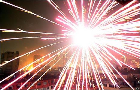 Firework let off in Shanghai on 26/1/09