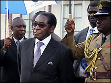 Robert Mugabe in Harare - 19/1/2009