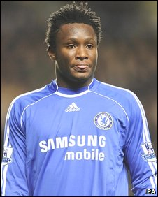 Chelsea football player John Mikel Obi