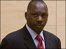 Thomas Lubanga at the ICC, 26 Jan 2009 (image courtesy of the ICC)