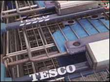 Tesco trolleys (library picture)