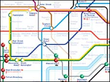 Disabled tube map