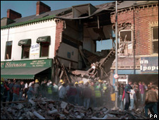 Aftermath of the Shankill bombing