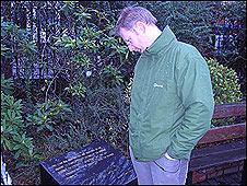 Alan McBride at Shankill Memorial