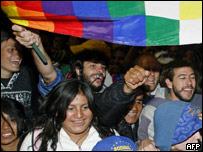Bolivianos celebran