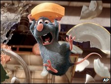 A scene from Ratatouille