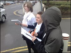 School Reporters at English Martyrs School, Hartlepool, North Yorkshire
