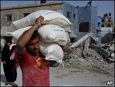 Aid delivery in Gaza