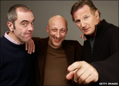 James Nesbitt, director Oliver Hirschbiegel and Liam Neeson