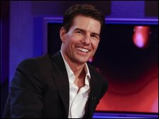 Tom Cruise appearing on Friday Night with Jonathan Ross
