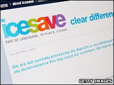 Icesave web site (file image)