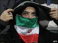 Seguidora de fútbol iraní