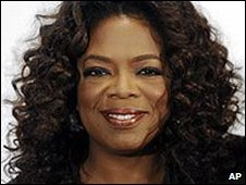 US talk show host Oprah Winfrey in California (05/12/2008)