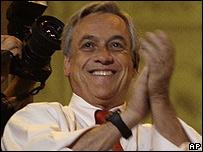 Sebastián Piñera, candidato  de derecha