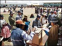 Votaci�n en Bolivia