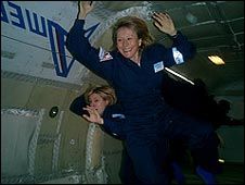 Esther dyson at zero gravity