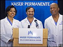 En el parto por cesárea participaron 18 médicos.