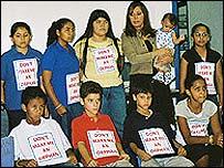 Ni�os hijos de inmigrantes indocumentados