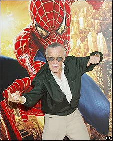 Stan Lee with creation Spider-Man
