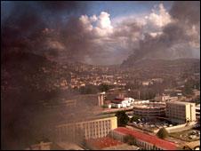 Fires burning in Antananarivo