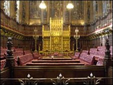 The Lords' chamber