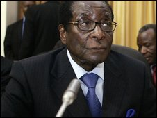 Zimbabwe's President Robert Mugabe in Pretoria, South Africa, on 26 January 2009