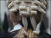 Back of a lawyer's head