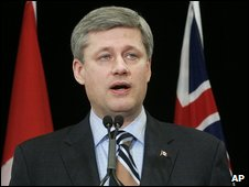 Canadian PM Stephen harper annoucning help for the carindustry in December