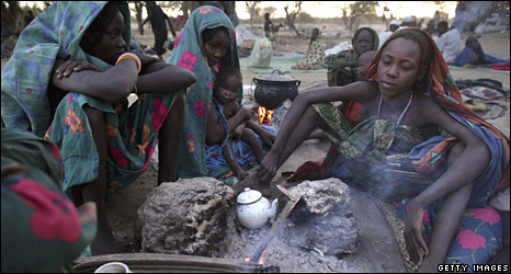 People cooking in Chad