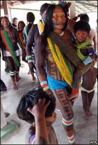 Indígenas brasileños en Belén