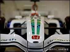 Honda continue to work on their race car for the 2009 season