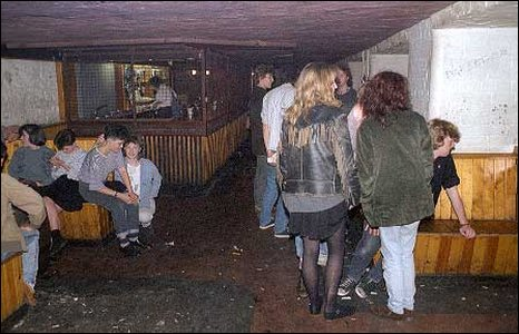 A collection of rock fans at the club