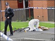 Crime scene in Harpurhey